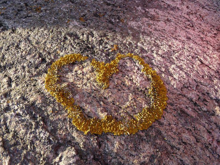 Heart on granite