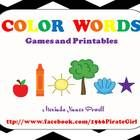 This packet started out as one color word game and then it turned into 4 games and 3 different worksheets.  It includes 3 small
