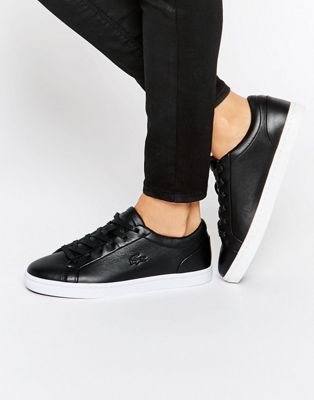 Lacoste Premium Leather Straightset Court Sneakers
