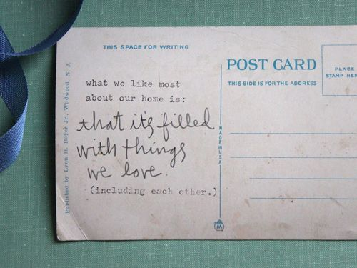 Home: Post Cards, Good Things, Remarkable Postcards, Things Design, Quote, Design Sponge, Diy Project, Snail Mail