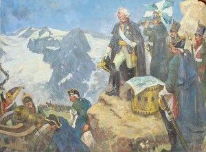31 августа (11 сентября) двумя колоннами русские войска, наконец, выступили. Начался героический Швейцарский поход Суворова 1799 года, ставший великой страницей русской истории.Первым крупным столкновением с французами стал штурм перевала Сен-Готард, открывавшего путь в Швейцарию. С третьего приступа перевал был взят. 14 (25) сентября русские войска, соединившись в один отряд двинулись к Швицу, где на пути вновь предстояло штурмовать французские укрепления в исключительно трудных условиях .