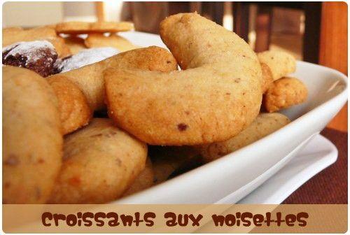 croissant-noisette ( blanc d'oeuf)