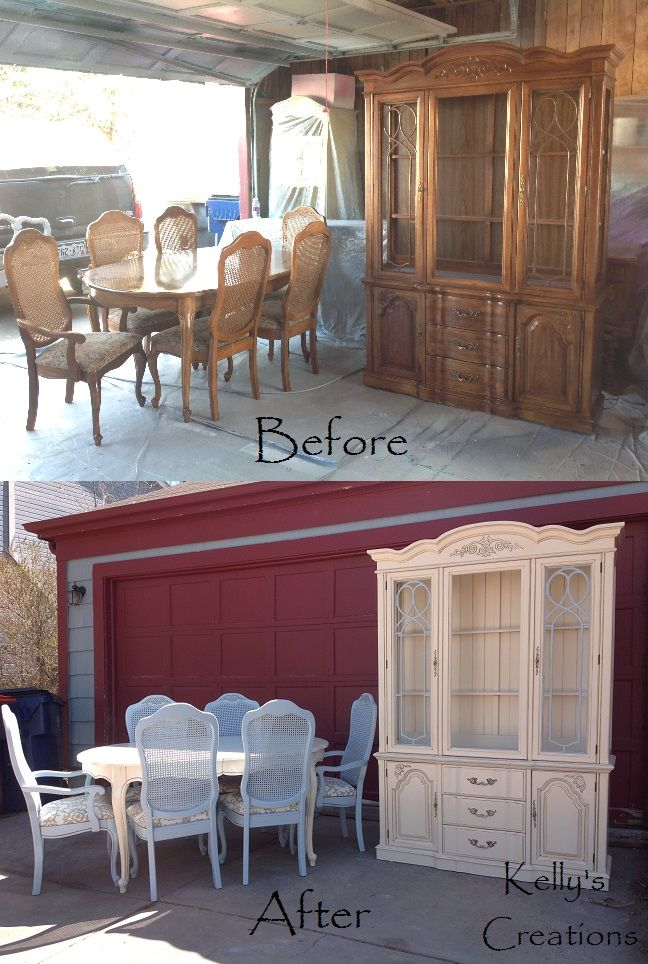 French Provincial Dining Set Table Chairs Armchairs And