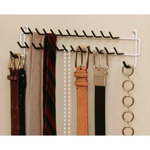 White ClosetMaid Tie U0026 Belt Rack Jewelry Necklace Scarf Closet Organizer New