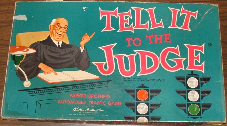 PARKER BROTHERS: 1959 Tell It To The Judge Game #Vintage #Games