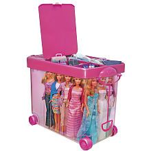 Barbie Store It All Carrying Case - my daughter received so many barbies and clothing this would be perfect to store all that stuff.