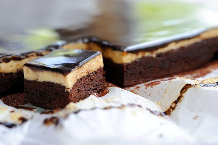An indulgent dessert, Josh Eggleton's chocolate peanut mousse cake will entice any chocolate lover