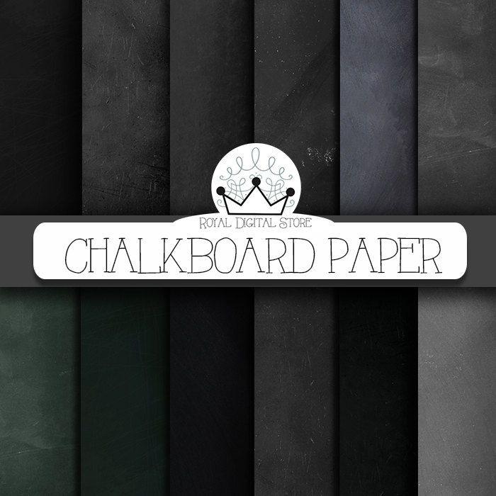 """Chalkboard digital paper: """"CHALKBOARD PAPER"""" with chalkboard backgrounds in gray, black, green and brown, chalkboard texture, schoolboard #black #texture #planner #digitalpaper #scrapbookpaper"""