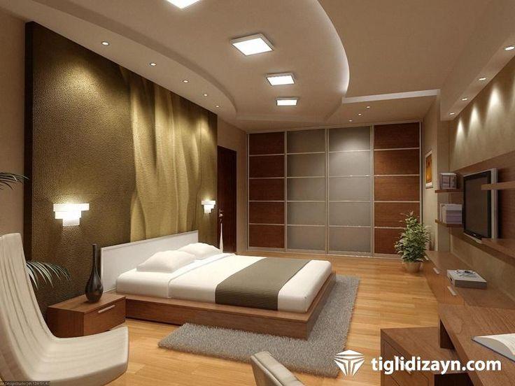 yatak odası ahşap iç dizayn