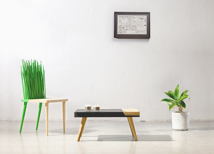 Furniture design by ODA.  Chair, table, cool space, modern.