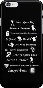 """Disney lessons learned Mash-up"" iPhone Cases by ashleykathrine 