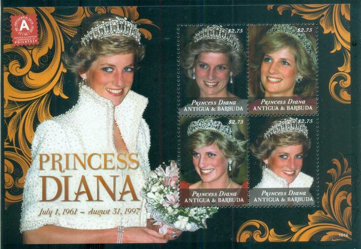 Antigua & Barbuda 2010 Princess Diana in Memoriam, A Tiara fit for a Princess MS MUH