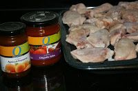 Sweet and Spicy Chicken Wings CrockPot Recipe -  3 ingredients: Chicken wings, apricot preserves & chipotle salsa