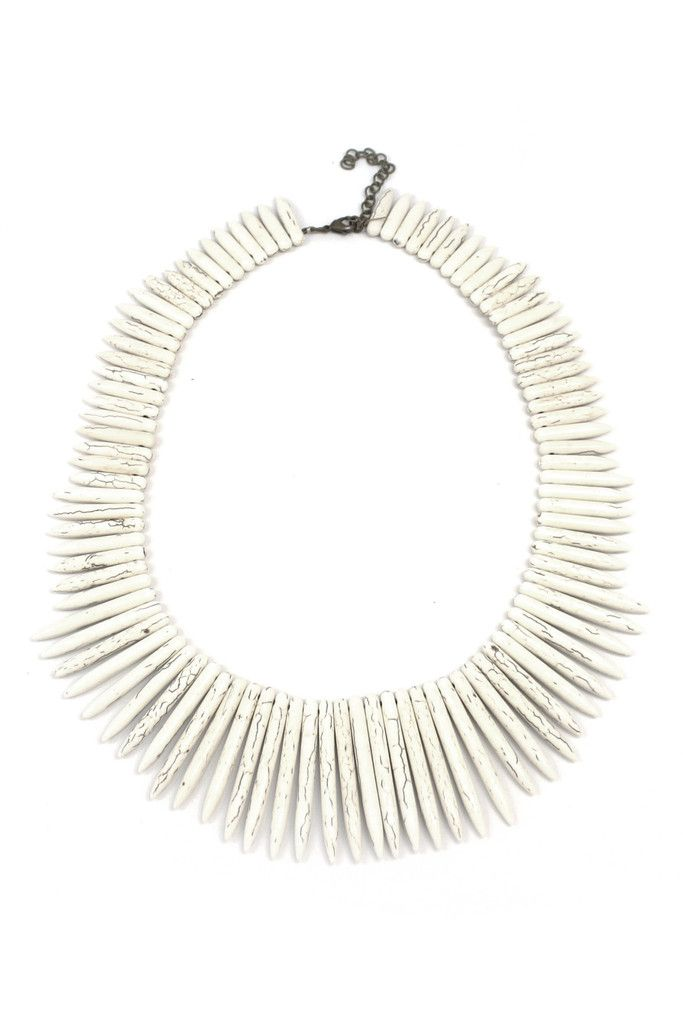Rule the pool or the beach with a bold necklace.