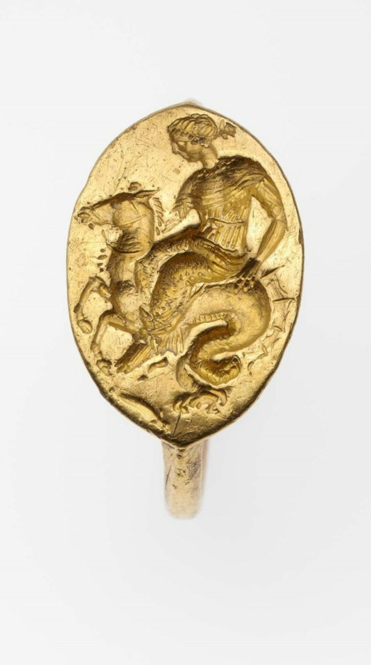 Ring with Nereid riding a hippocamp 425-400 BC GREECE