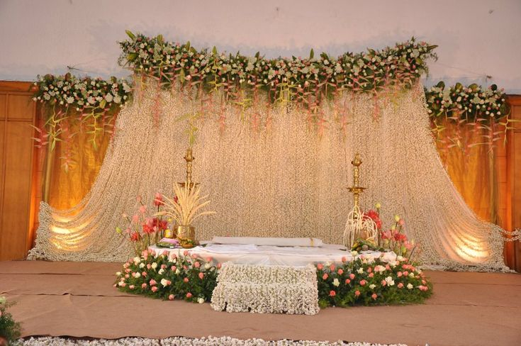 Hindu wedding decor my some day one day pinterest for Background decoration for indian wedding
