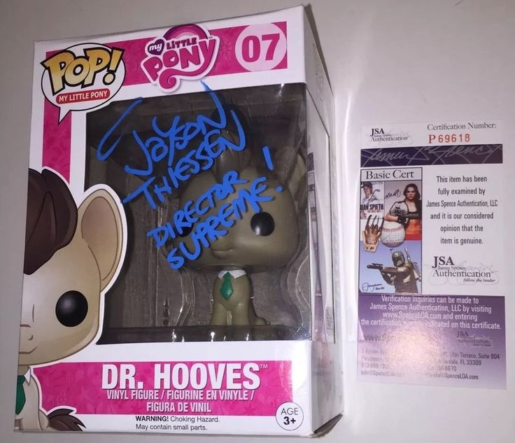 JAYSON THIESSEN signed MY LITTLE PONY Funko POP Figure DR HOOVES DR. PROOF JSA #FUNKO