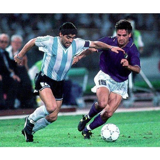 Diego y Roberto Baggio...