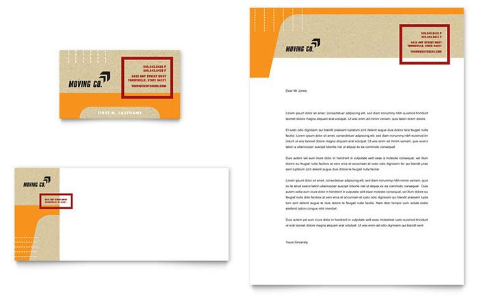Movers & Moving Company - Business Card & Letterhead Template Design