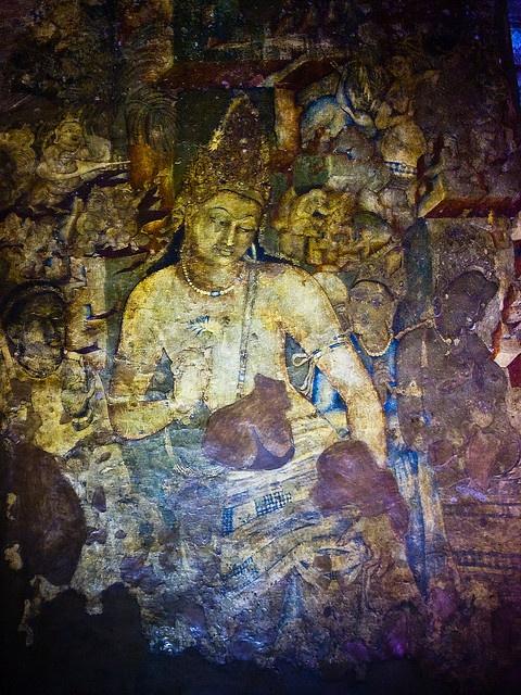 Avalokiteśvara / Padmapani, Ajanta Caves by kun0me, via Flickr