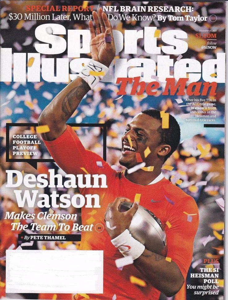 Sports Illustrated December 2015 Deshaun Watson Clemson The Man College Football