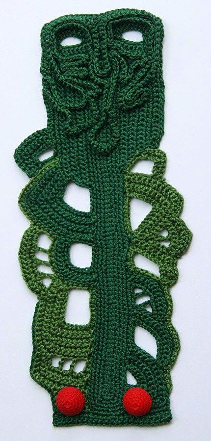 Green crochet cuff