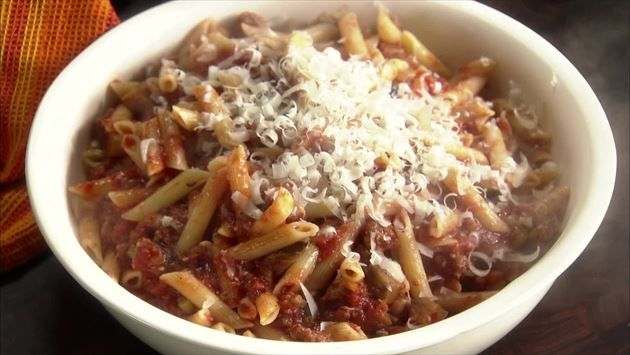 Sweet Sausage and Eggplant Penne | Recipe | Sweet, Penne and Recipe
