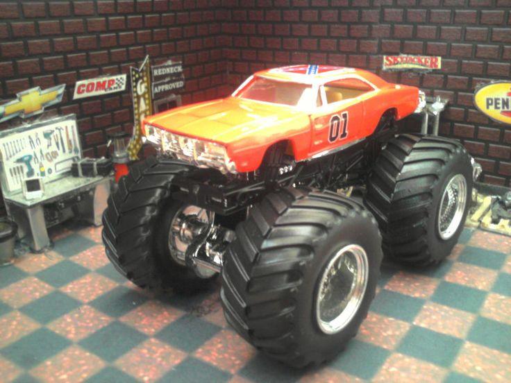 General Lee Monster Truck Custom 1/64 dukes of hazzard general lee ...