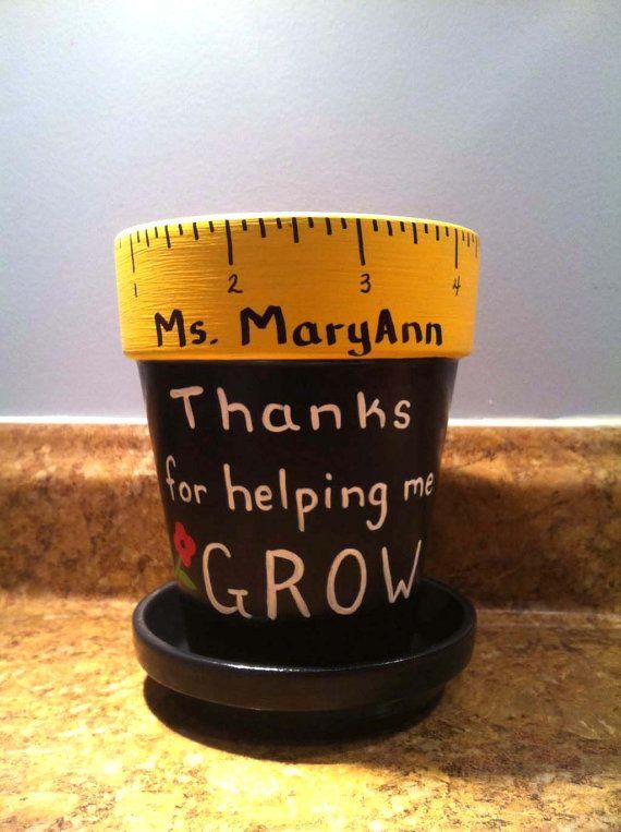 Porte-crayon enseignant personnalisé avec nos remerciements pour avoir aidé me GROW, enseignant nom, nom de l