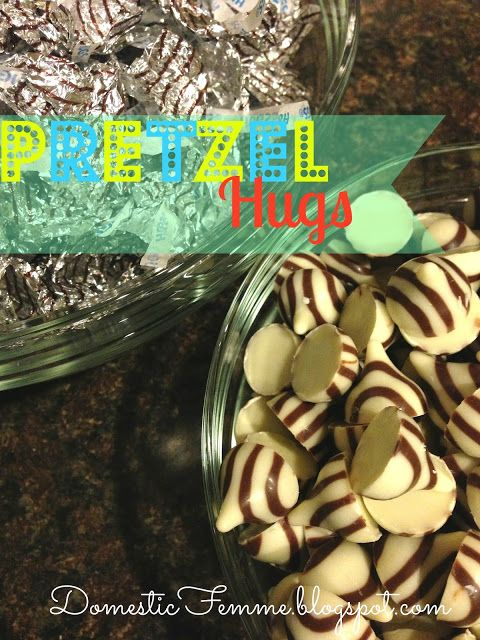 Hershey's Kisses Pretzel Hugs {by Domestic Femme} #Recipes #Recipe #Snack #Snacks #Chocolate #Dessert #Desserts #Quick #Easy #Idea #Ideas #Potluck #Potlucks #Finger #Food #Foods #Crowd #Party #Parties #Football #GameDay #Game #Day #SuperBowl #Super #Bowl #Hershey #Hersheys #Kiss #Pretzels #Sweets #Candy #Candies