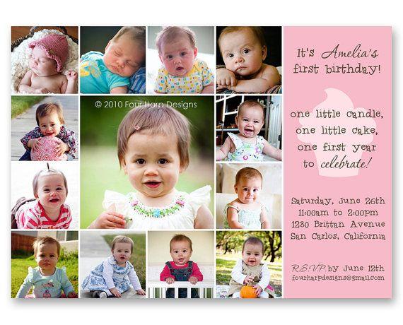 50 best sashas birthday party ideas images on pinterest 1 year first year birthday invitation stopboris Gallery