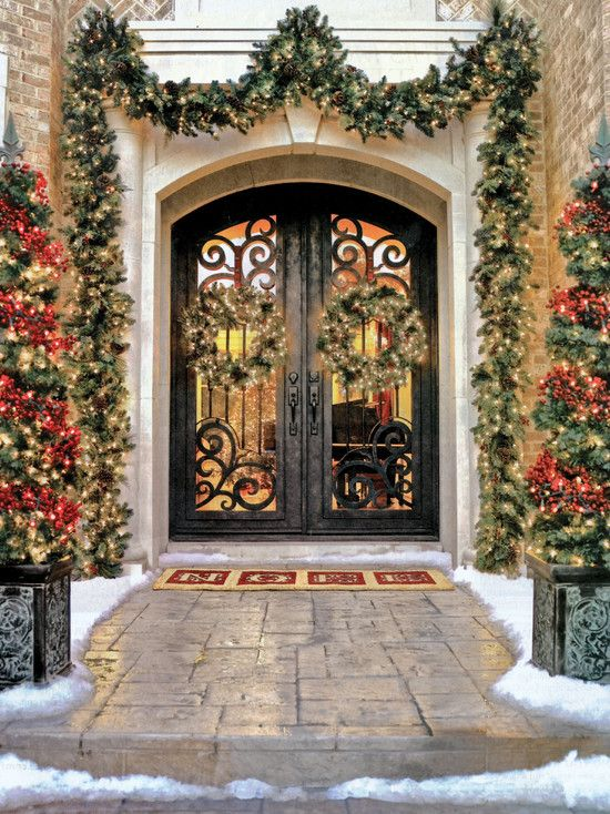 The Best 25 Christmas Design Ideas. Exterior Front DoorsEntry ...