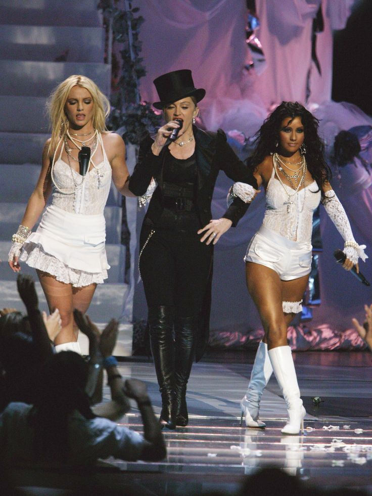 Britney Spears, Madonna, and Christina Aguilera at the MTV Video Music Awards 2002