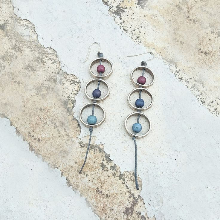 Μακριά σκουλαρίκια με χαολίτες | Σκουλαρίκια στο jamjar