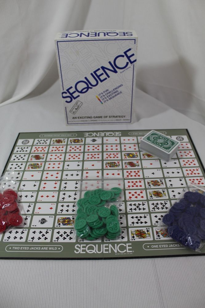 Sequence Game Board Strategy Adults Children Cards Ltd Complete Fun