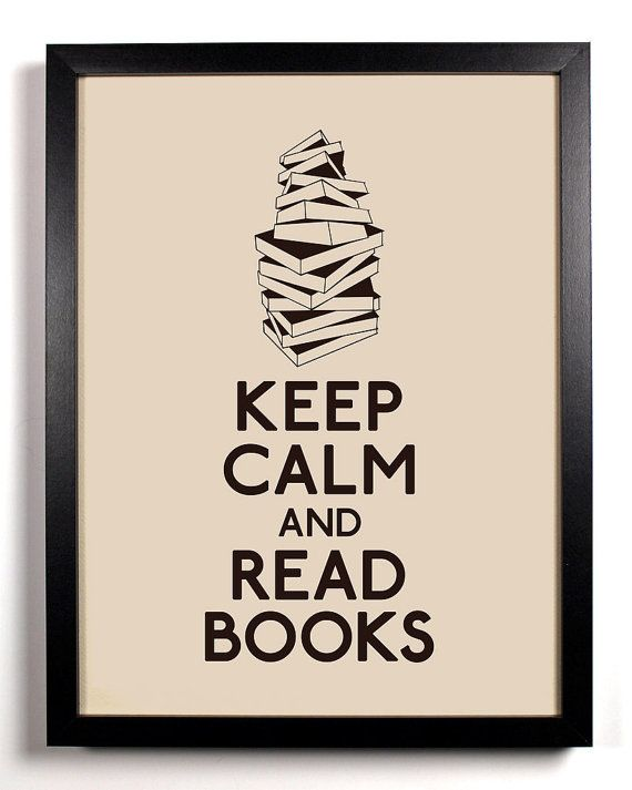Keep Calm and Read Books Stack Of Books 8 x by KeepCalmAndStayGold, $8.99