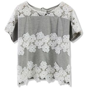 Chicwish Floral Lace Crochet Panel Crop Top