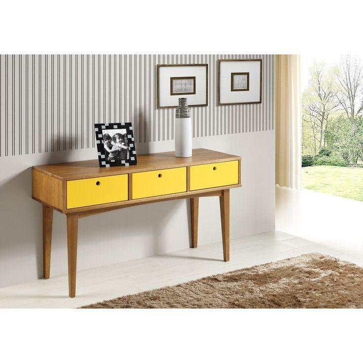 Aparador Vintage Acab. Amendoa Laca Amarelo - 17122 - SunHouse