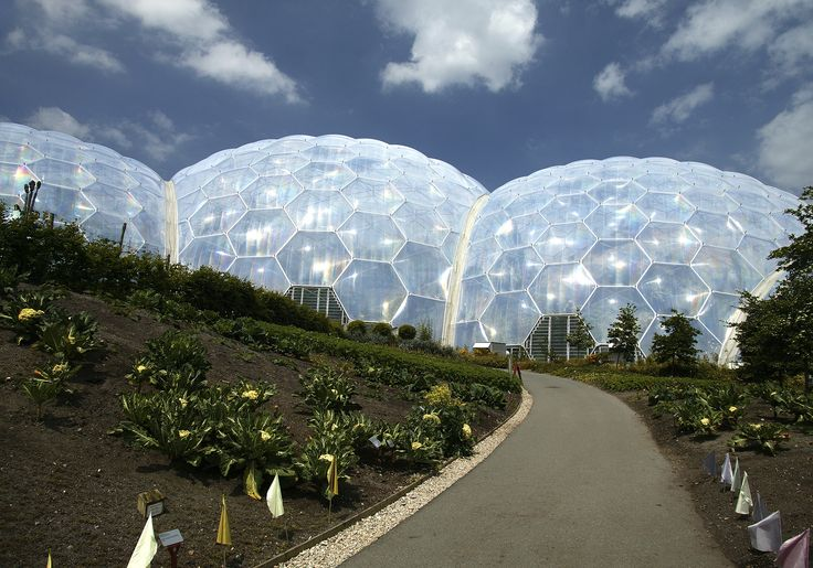 Geodesic Dome Of The Eden Project Cornwall England Uk