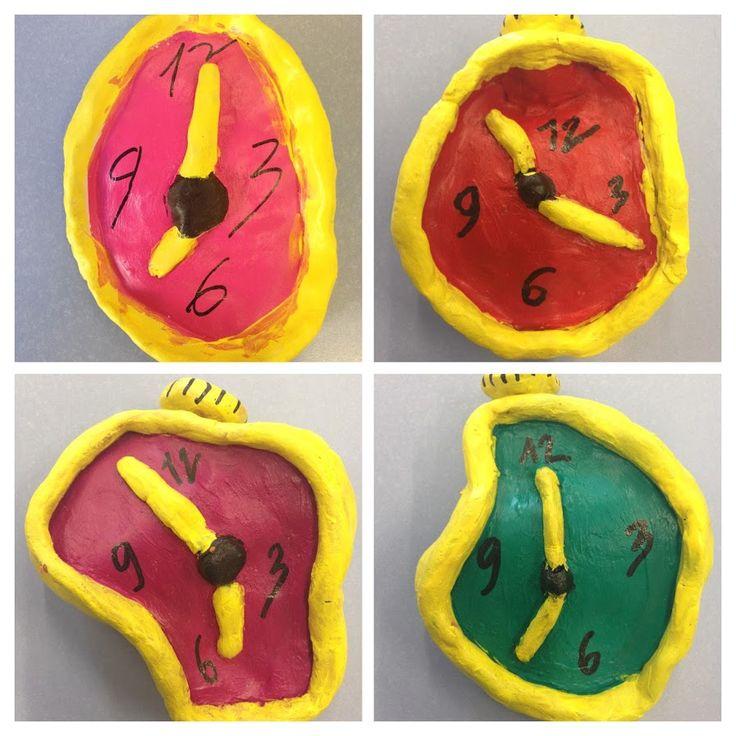 RELLOTGES DALÍ - Material: fang, pintura, pinzell, retolador - Nivell: CM 4PRI 2015/16 Escola Pia Balmes