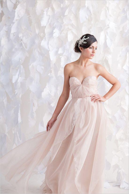 Blush pink bridesmaids dress!