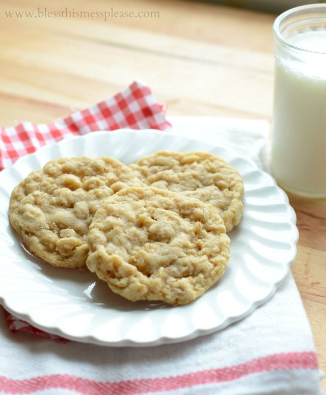 Simple Oatmeal Cookies - Roger's favorite- I hate oatmeal yuck! But I will still make them with love.