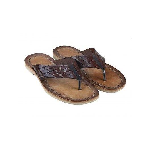 Pánske kožené sandále hnedé PT120 - manozo.hu