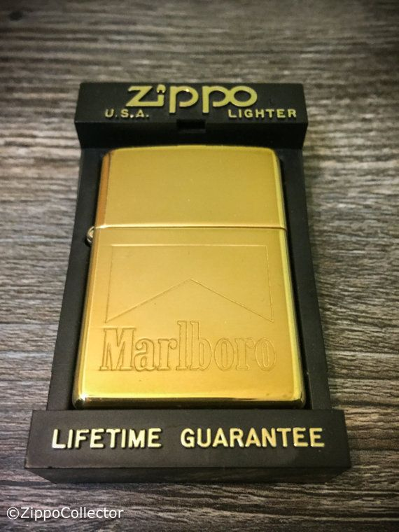 1997 Brass Marlboro Pack Design Zippo Lighter by ZippoCollector