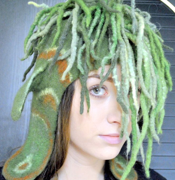 Crazy hat with ears. Forest Fairy. by FeltFashionmagazine on Etsy