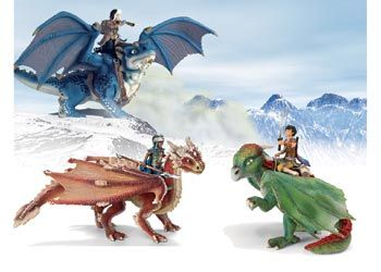 Schleich Dragon Riders. Create a world of magical dragons with these hand painted Schleich Dragon Riders.