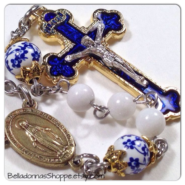 I truly felt blessed to make these rosaries for a lovely woman to give to her…