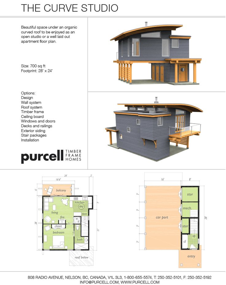 Purcell Timber Frames - Full Home Packages and Prefabricated Houses - The Curve Studio