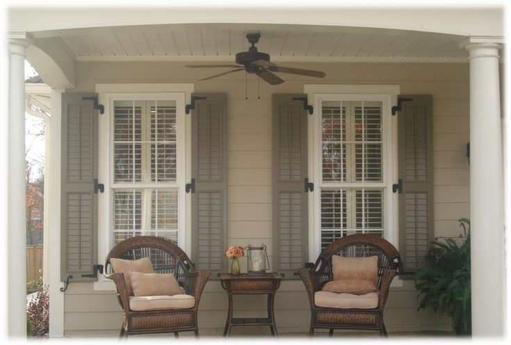 25 best ideas about exterior wood shutters on pinterest - Exterior paint that lasts forever ...