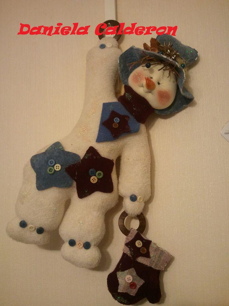 muñeco de nieve para colgar